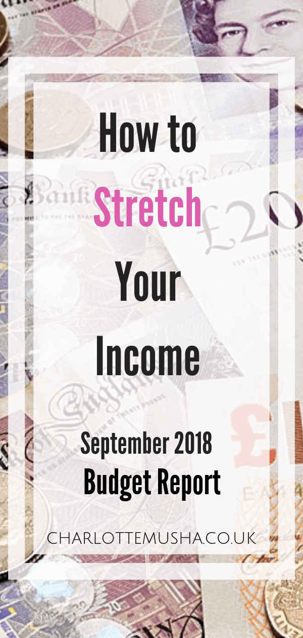 This is how to stretch your income in a budget report by Charlotte at CharlotteMusha.co.uk #IncomeReport #StretchYourIncome #SaveMoney