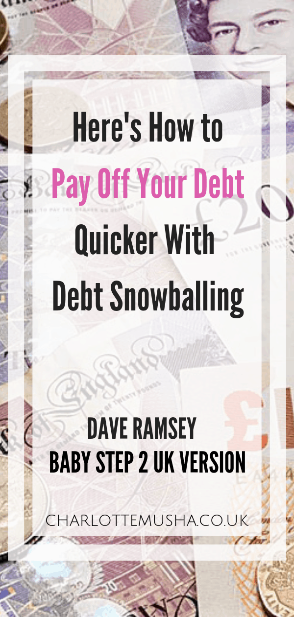 Baby Step 2 Dave Ramsey UK Version BS2 The Debt Snowball Baby Step 2 is work on your debt snowball. The Debt Snowball is arguably the most important of the Baby Steps as it not only clears your debt, it changes your attitude towards money by Charlotte at charlottemusha.co.uk #Debt #SavingMoney #PayOffDebt #MoneySaving