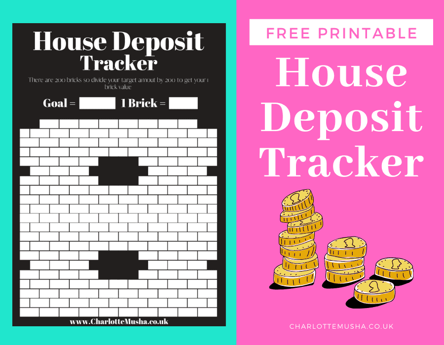 Free House Depsoit Tracker Printable for Baby Step 3b from Charlotte Musha