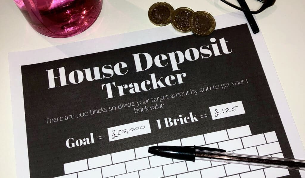 Baby Step 3b House Depsoit Tracker Printable by Charlotte Musha