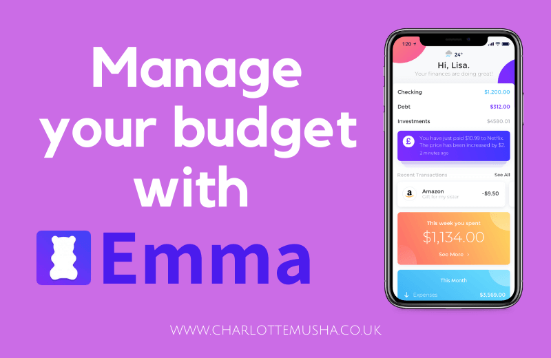 Manage your budget with the Emma App